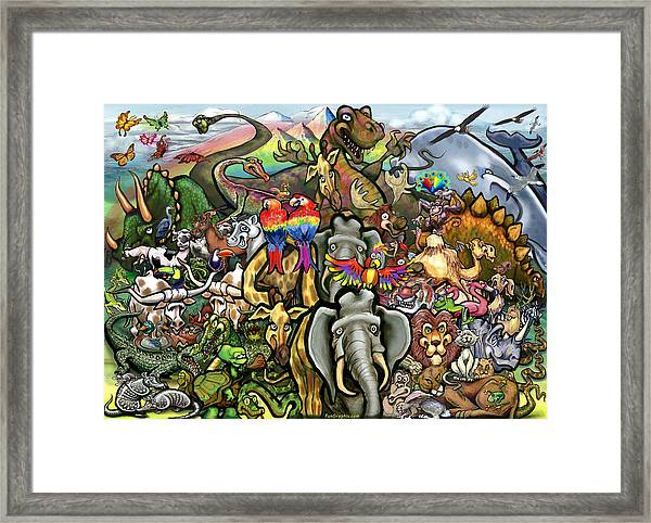 All Creatures Great Small Framed Print