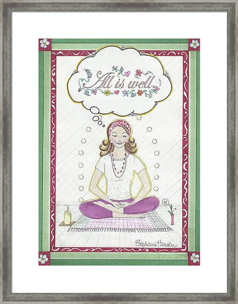 All Is Well Framed Print