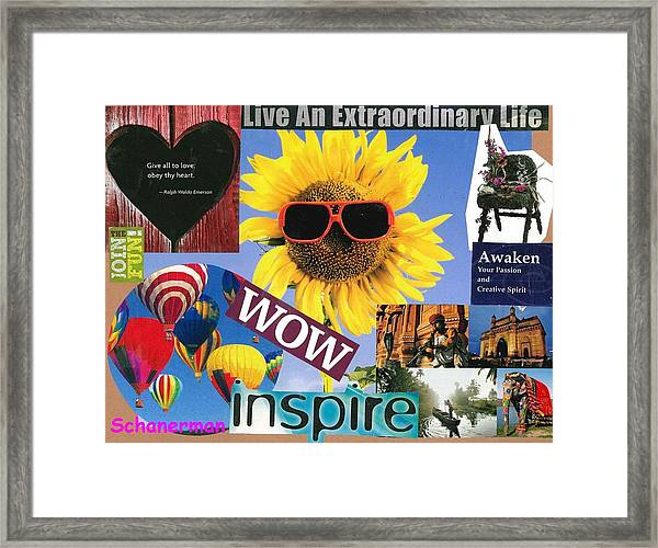 All Of Life Can Inspire Framed Print