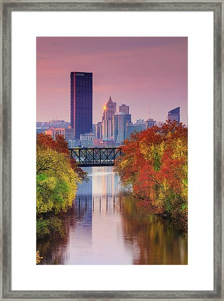 All Pittsburgh Pink  Framed Print