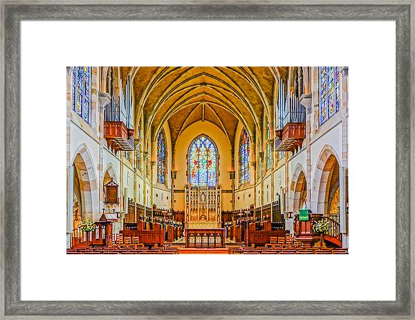 All Saints Chapel, Interior Framed Print