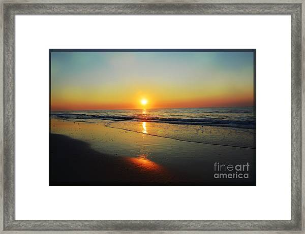 All That Shimmers Is Golden Framed Print