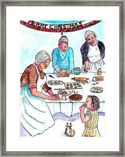 All The Girls Baking For Christmas Framed Print