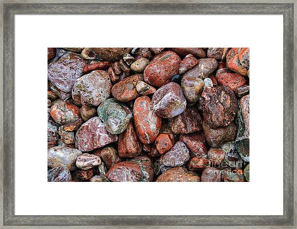 All The Stones Framed Print