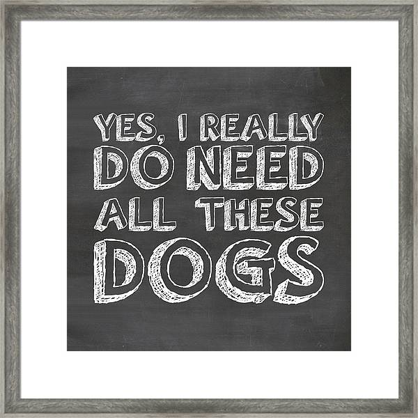All These Dogs Framed Print