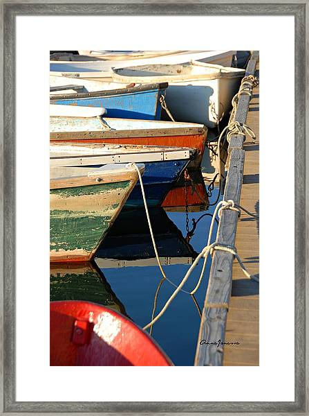 Framed Print featuring the photograph All Tied Up by AnnaJanessa PhotoArt