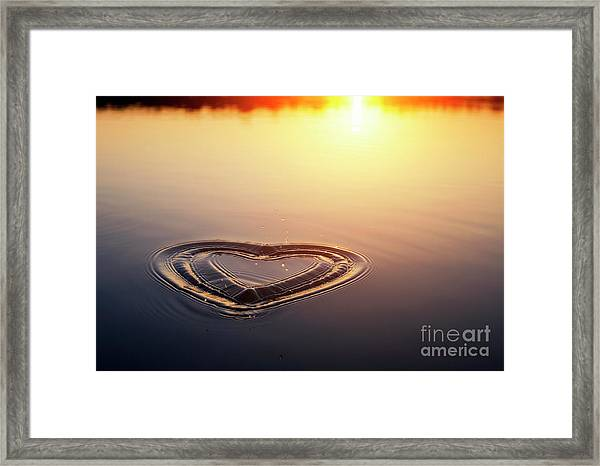 All We Need Is Love Framed Print