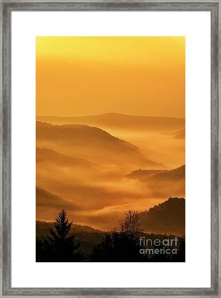 Allegheny Mountain Sunrise Vertical Framed Print