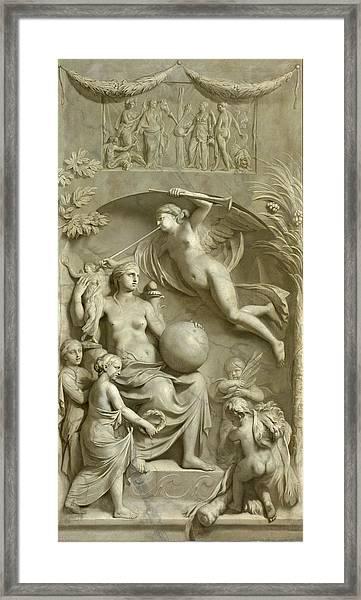 Allegory Of Fame Framed Print
