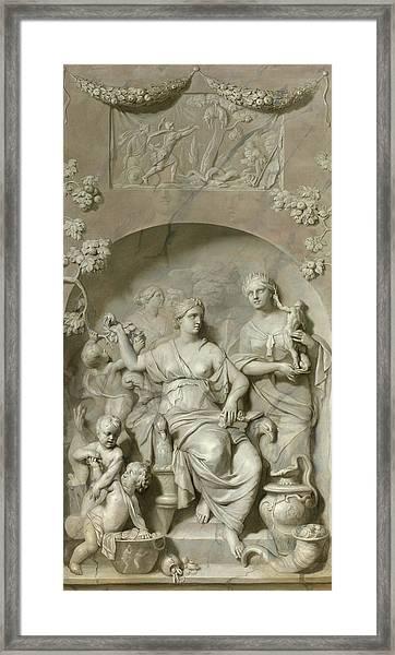 Allegory Of Wealth Framed Print