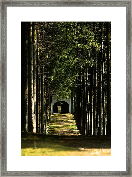 Alley At The Monastery Framed Print