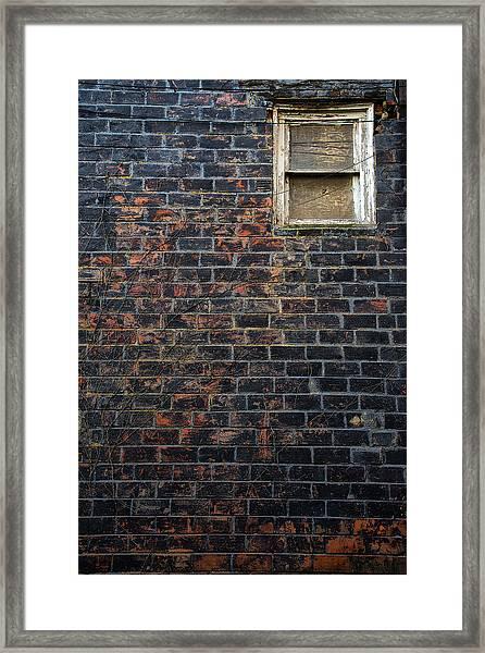 Alley Window Framed Print