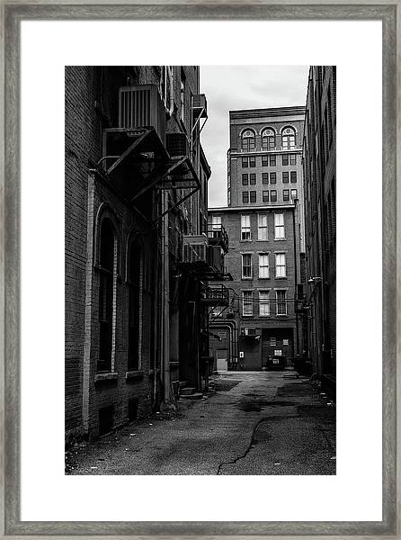 Framed Print featuring the photograph Alleyway I by Break The Silhouette