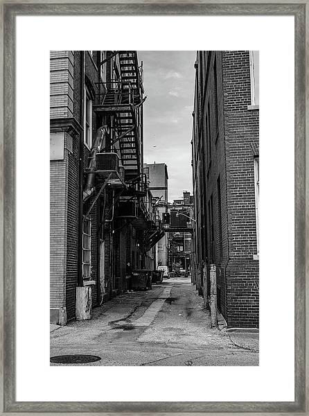 Framed Print featuring the photograph Alleyway II by Break The Silhouette