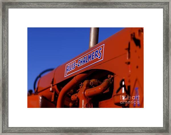 Allis-chalmers Vintage Tractor Framed Print