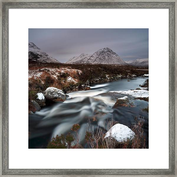 Allt Nan Giubhas And The Peak Of Stob Dearg Framed Print