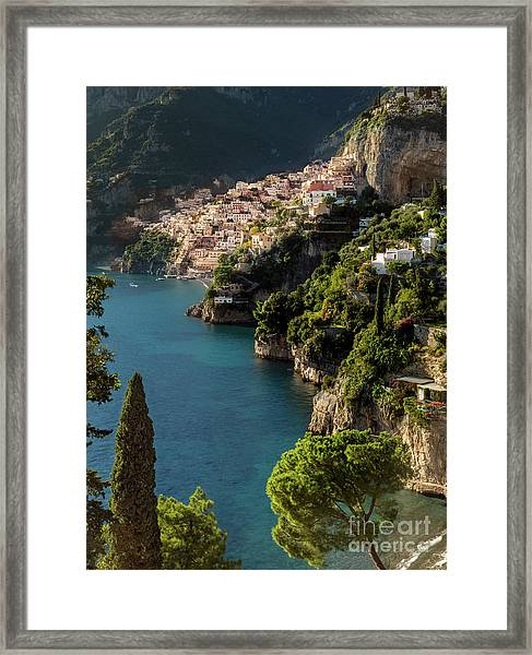 Framed Print featuring the photograph Almalfi Coast by Brian Jannsen