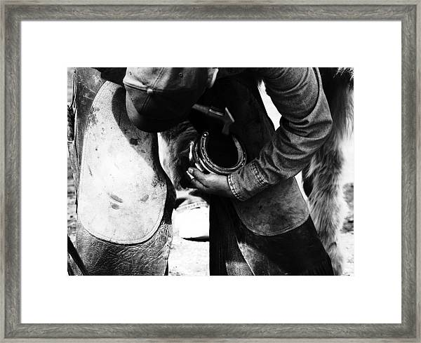 Almost Done Framed Print