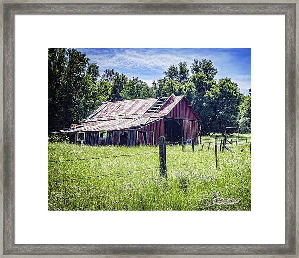 Framed Print featuring the photograph Almost Gone But Still Standing by William Havle
