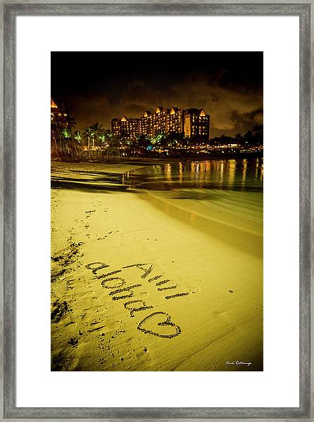Ami Aloha Aulani Disney Resort And Spa Hawaii Collection Art Framed Print