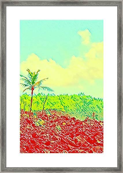 Aloha Lava Aina Hawaii Sky Framed Print