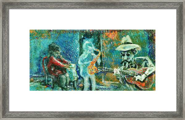 Alone With The Blues Framed Print