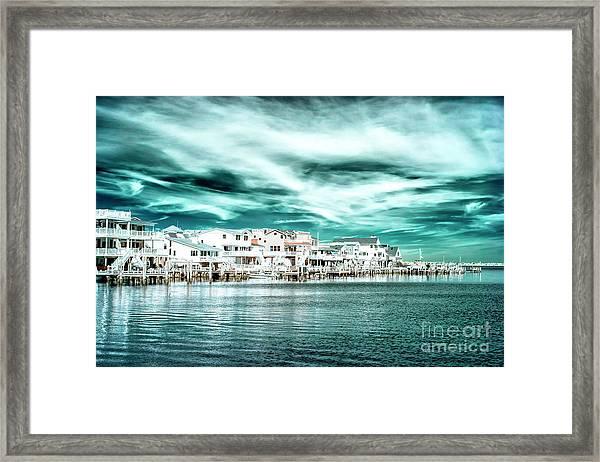 Along The Bay At Long Beach Island Infrared Framed Print by John Rizzuto