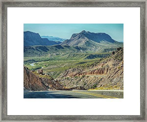 Along The Border Framed Print