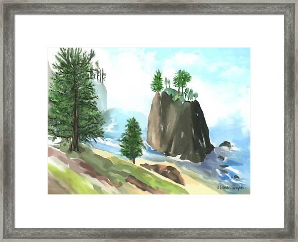 Along The Oregon Coast Framed Print
