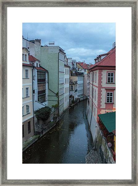 Framed Print featuring the photograph Along The Prague Canals by Matthew Wolf