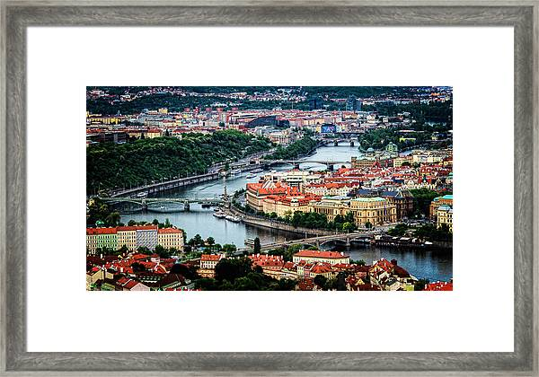 Framed Print featuring the photograph Along The Vltava River by Kevin McClish