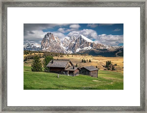 Alpe Di Suisi Cabin Framed Print