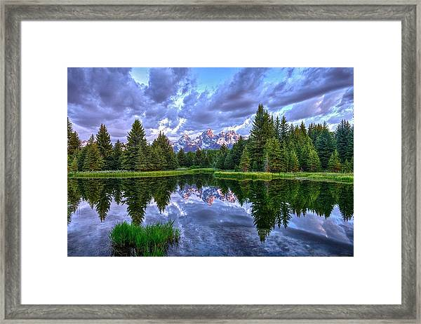 Alpenglow In The Tetons Framed Print