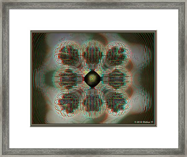 Alpha Waves - View With Red-cyan 3d Glasses Framed Print