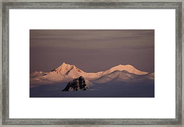 Alpine Glow - Antarctica Framed Print