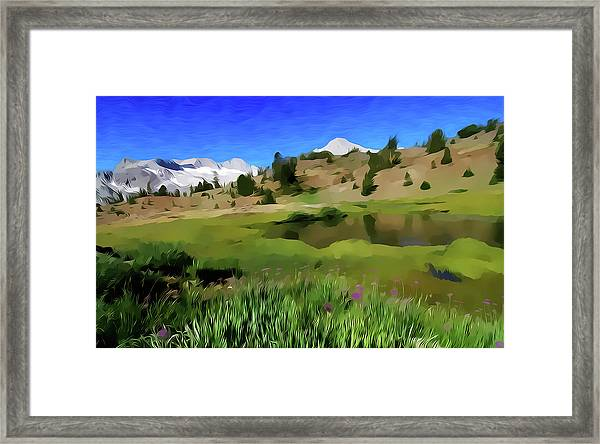 Alpine Meadow By Frank Lee Hawkins Framed Print