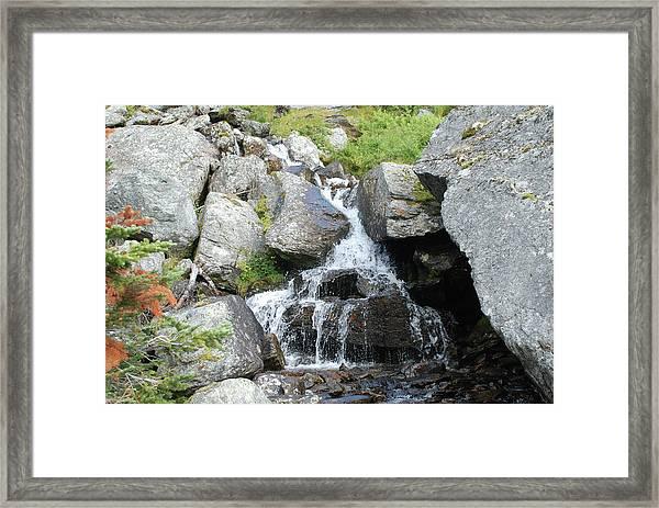 Alpine Waterworks Framed Print