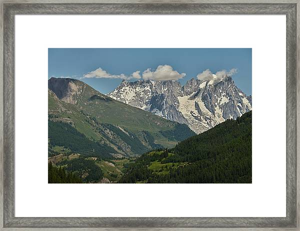 Alps In The Distance Framed Print
