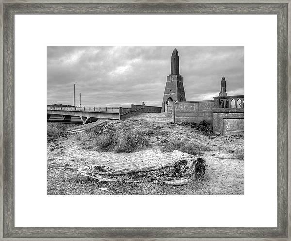 Alsea Bay Bridge Framed Print