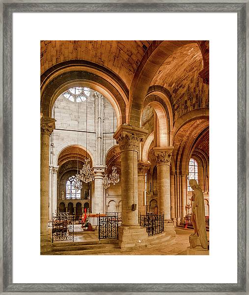 Framed Print featuring the photograph Poissy, France - Altar, Notre-dame De Poissy by Mark Forte