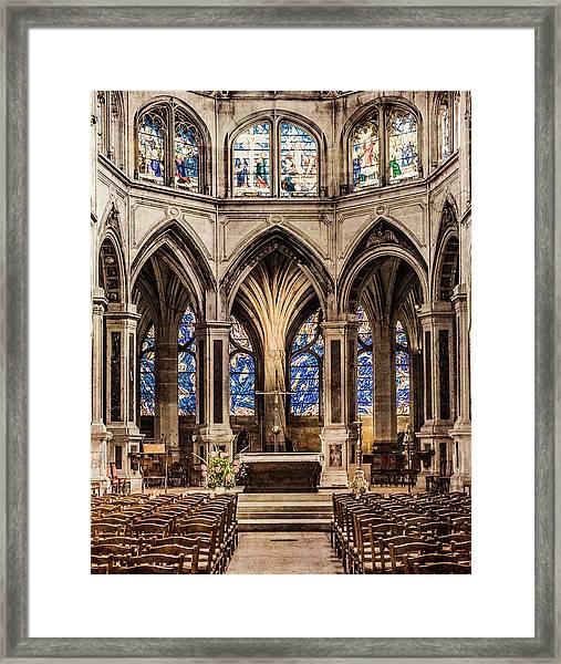 Framed Print featuring the photograph Paris, France - Altar - Saint-severin by Mark Forte
