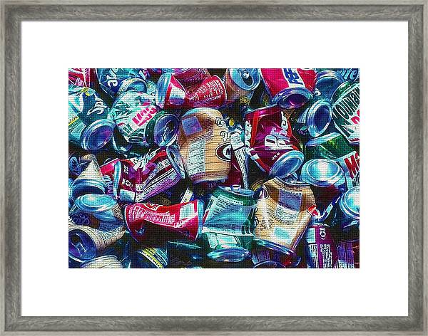 Aluminum Cans - Recyclables Framed Print by Steve Ohlsen