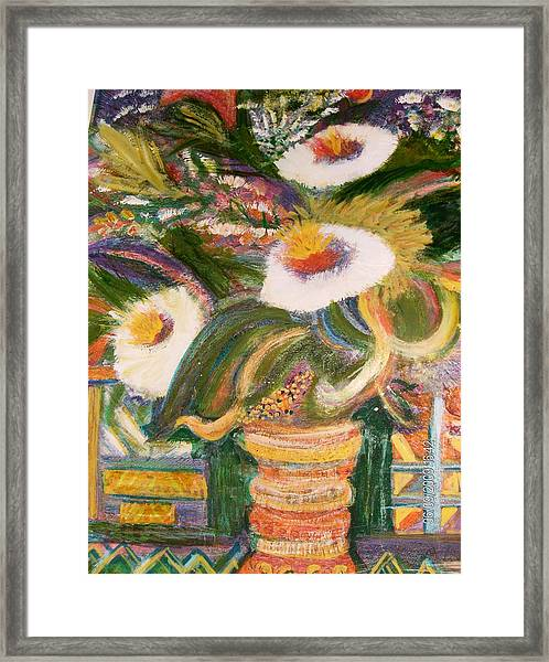 Always Blooming Bright And Happy Flowers Framed Print by Anne-Elizabeth Whiteway