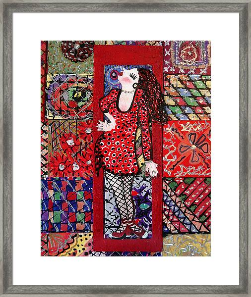 Always Make An Entrance Framed Print by Cynda LuClaire