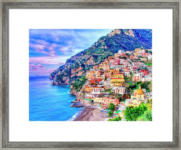 Amalfi Coast At Positano Framed Print