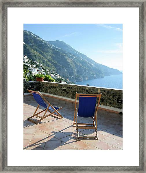 Amalfi Coast View From Villino Blu Framed Print