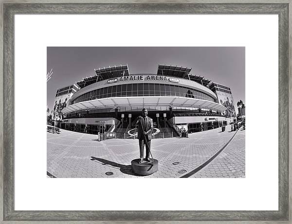 Amalie Arena Black And White Framed Print