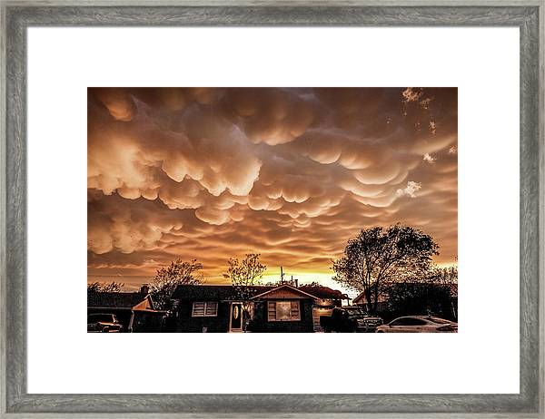 Amarillo Mammatus Framed Print