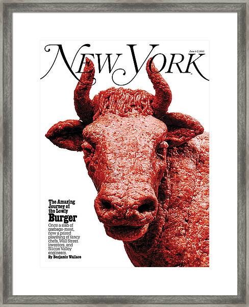 The Amazing Journey Of The Hamburger Framed Print