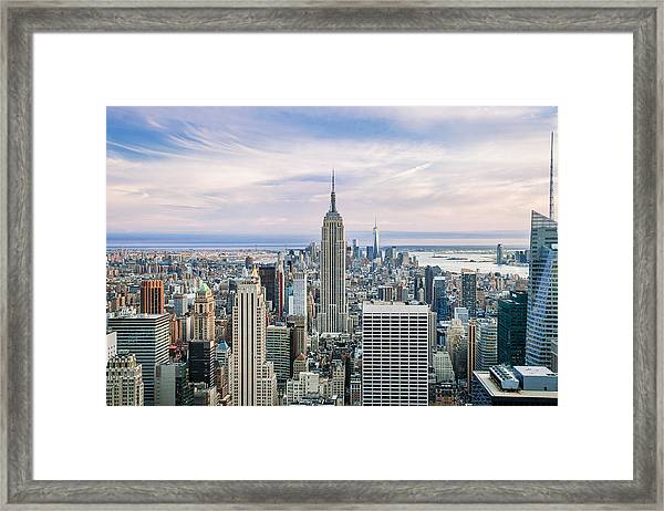 Amazing Manhattan Framed Print